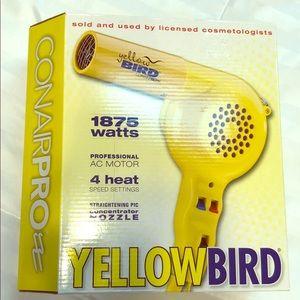 ConairPro Yellow Bird Blow Dryer NEW
